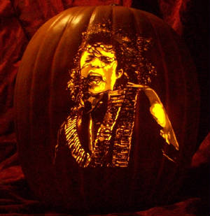 michael jackson pumpkin carving