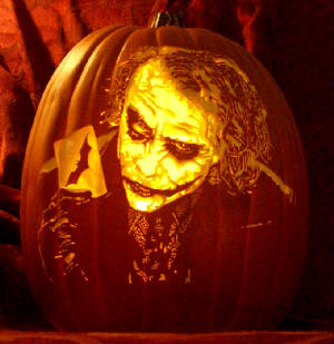 joker pumpkin carving pattern