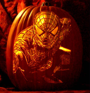 spider man pumpkin carving pattern by the pumpkin geek