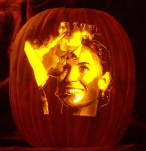 demi moore and ashton kutcher pumpkin carving pattern